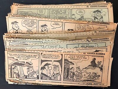 Vtg Flintstones comic strip dailies HANNA-BARBERA early 1960s?  approx 300