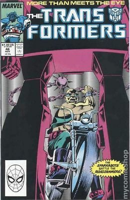 Transformers (Marvel) 1st Printing #46 1988 VF Stock Image