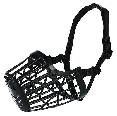 Trixie BLACK Plastic Basket Enclosed Dog Muzzle - All Sizes Of Dog Muzzles NEW