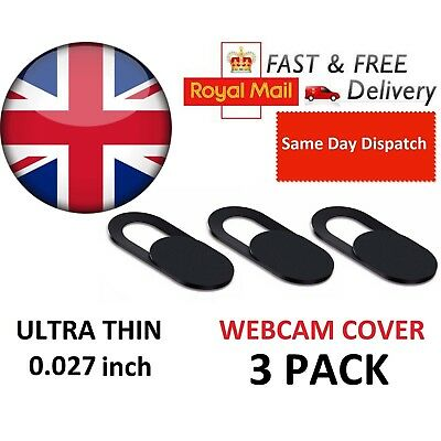 Webcam Cover 3 PACK Ultra Thin 0.7mm Camera Laptop Mobile Tablet Macbook