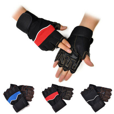 Outdoor Sports Gym Workout Weight Lifting Training  Cycling Fingerless Gloves