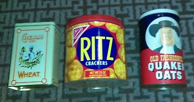 Junk Drawer Lot Vintage Tin Lot Collectible Rare Estate Find Cream of Wheat Ritz