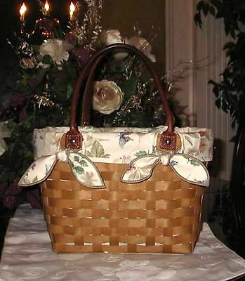 Longaberger Large Boardwalk Basket FABRIC LINER ONLY - BOTANICAL - Closeout!
