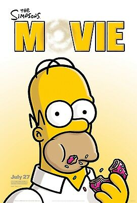 """""""The Simpsons; The Movie""""...Classic Animated TV Movie Poster Various Sizes"""