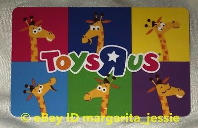 "Toys R Us Canada Gift Card ""geoffrey The Giraffe Mascot"" No Value New"