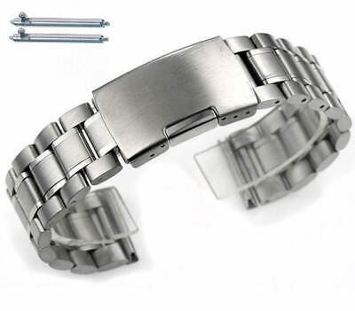 Stainless Steel Bracelet Replacement Watch Band Strap Push Button Clasp #5015