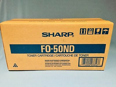 NEW SEALED Sharp FO-50ND Toner Cartridge F0-50ND F050ND FO50ND 6,000 Pages