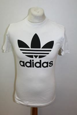 BNWT ADIDAS MEN'S White Cotton Originals Trefoil Crew Neck
