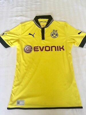 *RRP:£49.99*BORUSSIA DORTMUND HOME SHIRT YELLOW PUMA MEDIUM MENS *small scuffs*