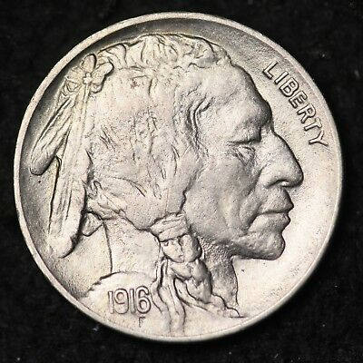 1916 Buffalo Nickel CHOICE BU FREE SHIPPING E238 KNM