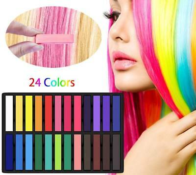 12/24/36/48 Colors Hair Chalk Set Temporary Non-Toxic Pastel Dye Kits Washable