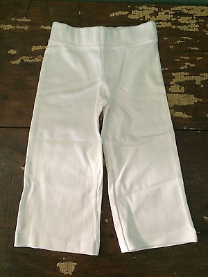 Koko Bean Organic cotton toddler kids white yoga pants 4T Boy Girl Tie Dye Blank