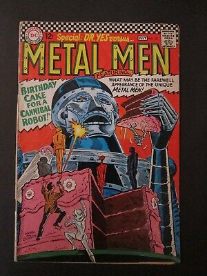 DC Comics METAL MEN #20 GD/VG JULY 1966 DR. YES Birthday Cake Cannibal Robot