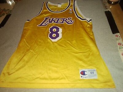 a47ba59330fe Mens Rare Vintage Los Angeles Lakers Kobe Bryant Yellow Champion Jersey 44  M L