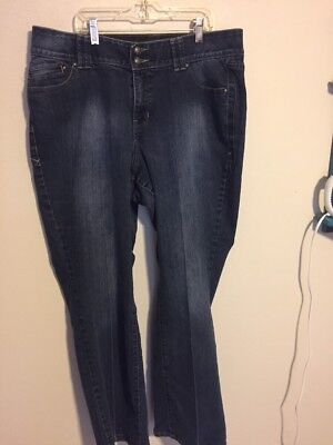 Lane Bryant Jeans Boot Cut Tighter Tummy Technology Size 16 (30 Inseam)