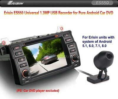 Erisin USB DVR Kamera Dash 125° Android Autoradio 720P Waterproof Recorder ES550