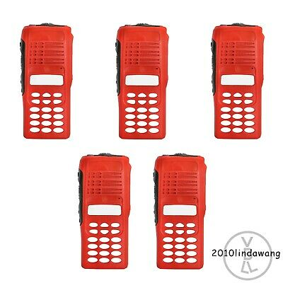 Lot 5 Red Replacement Full-keypad Housing for Motorola HT1250 Portable Radio