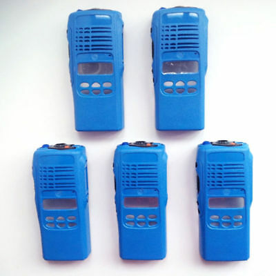 5x Blue Repair Housing Case For Motorola HT1250 limited-keypad Portable Radio