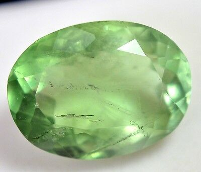22.75 Ct Natural Green Colombian Emerald Fluorite Oval Cut Untreated AAA+ Gem