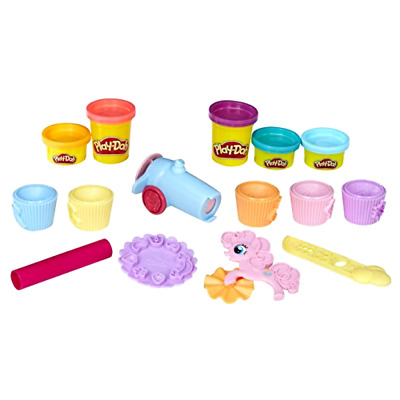 Play-Doh My Little Pony Pinkie Pie Cupcake Set,5 Tubs Modelling Compound Moulds