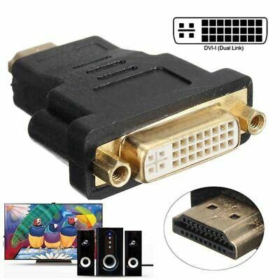 Audio HDMI Male To DVI-D Female 24+5 DVI Cord Cable Converter Adapter Gold Plat