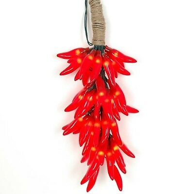 Novelty Lights CP-CLUSTER Chili Pepper Clustered Mini Light Set, Red, Green W...