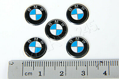 Genuine BMW E60 E61 E63 E64 Key Fob Logo Emblems 11mm 5pcs OEM 66122155754