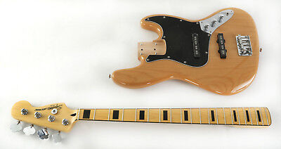 Squier Vintage Modified Jazz Bass 70s Electric Bass Natural
