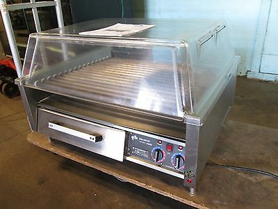 """STAR"" HD COMMERCIAL 36"" COUNTER-TOP (NSF) HOT DOG GRILL/ROLLER w/DOME 208/240V"