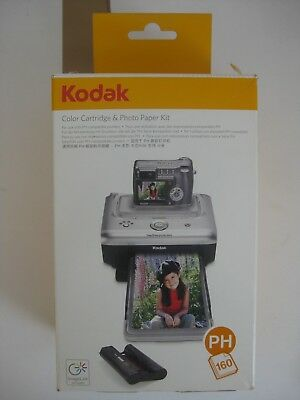 Kodak Easy Share PH 160 Fotopapier Farbband Kit Farbpatrone 160 Blatt PH 80 40