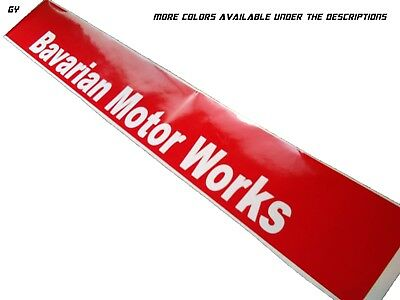 Gy,BMW Bavarian Motor Works Banners Windshield Sun Visor strip Decals Stickers
