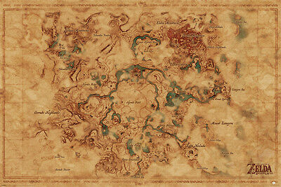 The Legend Of Zelda Breath Of The Wild (Map)  Maxi Poster 61cm x 91.5cm 674