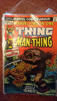 Marvel Two In One 1 (1St Series) - Thing And Man Thing - Vfn