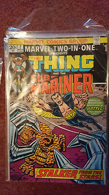 Marvel Two In One 2 (1St Series) - Thing And Sub Mariner - Vg