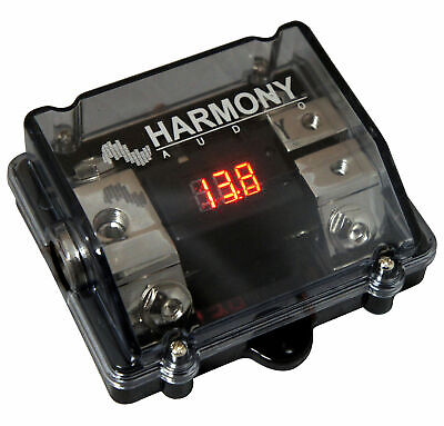 Harmony Audio HA-ANLD2 Car 2-Way ANL Digital Voltage Display Fuseholder 1/0GA IN