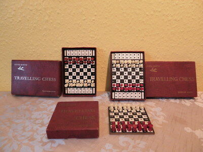 Vintage Job lot bundle camping Travel Chess games, House Martin, Complete.
