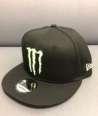 RARE MONSTER ENERGY Athlete Only New Era 9Fifty Snapback Hat Cap ... a2ce51db96a9