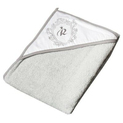 Royal Baby Bathing Hooded Towel - 100% High Quality Cotton - Grey 80x80cm