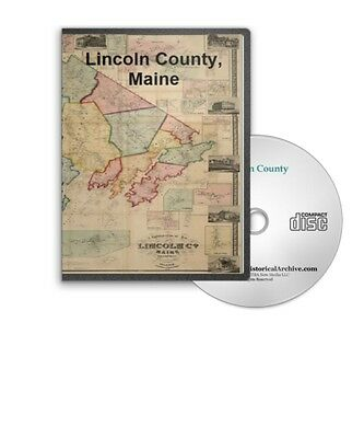 Lincoln County Maine ME History Culture Family Genealogy 4 Books - B35