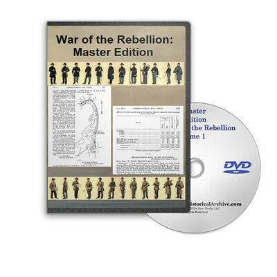 War of the Rebellion Official Records Civil War 2 DVDs All 128 Volumes - C697-98