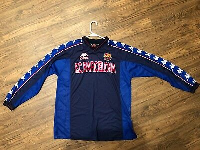 8bb9474373 FC Barcelona - FC Barca vintage retro Kappa training top - jersey - XL
