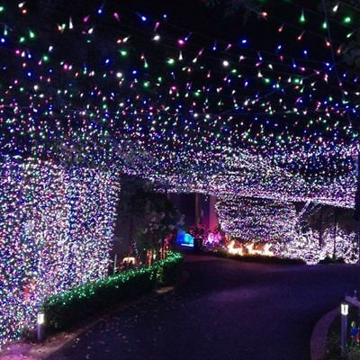 100 LED Outdoor Powered String Light Garden Christmas Party Fairy Lamp 10M