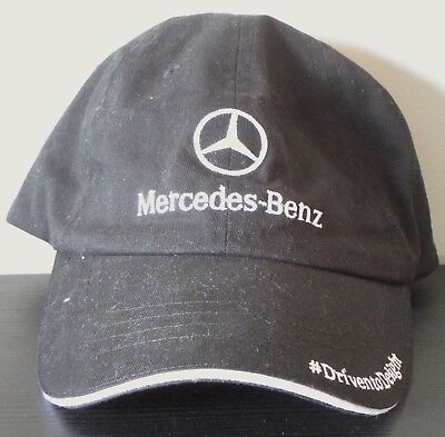 Mercedes Benz Hat Cap Men's Baseball Black Driven to Delight New Without Tags