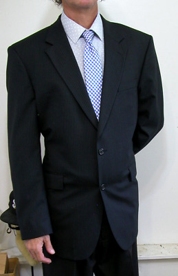 57b304e90 KENNETH COLE SELECT $499 Suit New Mens 42L 2Btn Charcoal Slim Fit ...