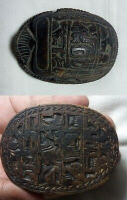 RARE ANCIENT EGYPTIAN Antique Scarab Carved Stone 1450-12010 BC Egyptian Antique