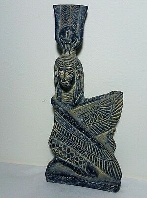 ANCIENT EGYPTIAN ANTIQUE ISIS Statue of Wings Isis Stone 2686 - 2181 BC