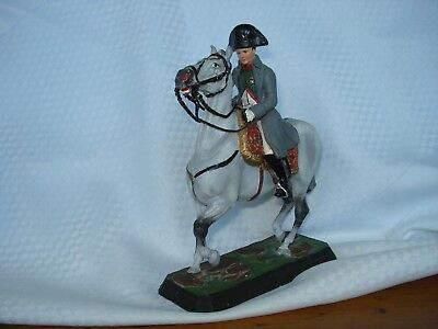Striking Mounted Napoleon 90mm cast metal model by Alymer of Spain, well painted