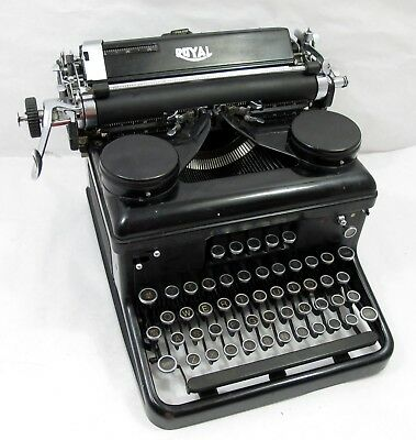 Vintage/Antique Royal Typewriter (Black) 1930s era