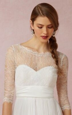 NEW $220 BHLDN Jenny Yoo Collection Marnie Wedding Topper Lace Top