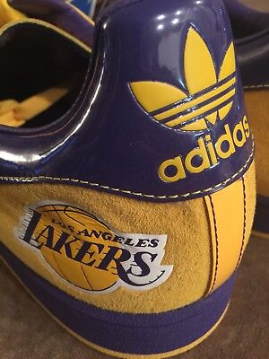 0b4e071c5f83 Adidas Superstar Mens Sz 20 Los Angeles Lakers Nba Series Court Shoes  Sneakers